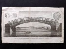 Gentleman's Magazine C1780 View of a Bridge of a Singular Construction